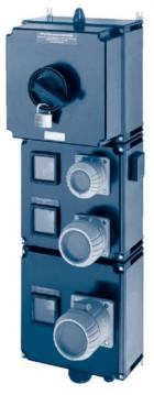 Ex-Maintenance Socket 80 A CEE 63A+32A+16A+1x earthed socket